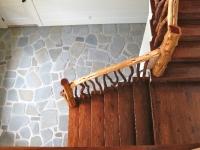 cedar stair railing