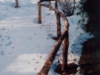Cedar handrail