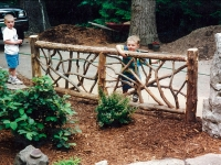 rustic decorative fence